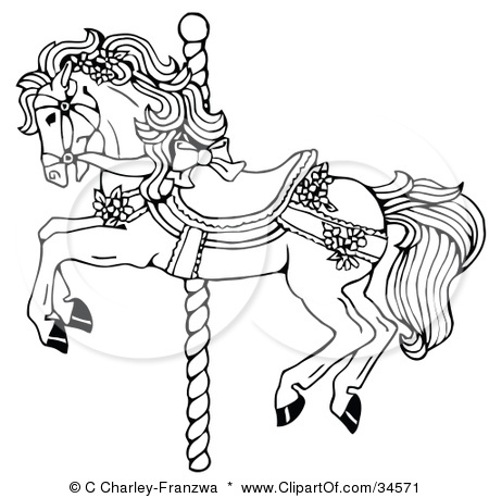 Carousel Horse Outline Coloring Coloring Pages