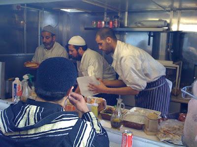 stalls selling Moroccan food, London