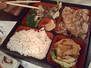 tuna bento box at Bento café