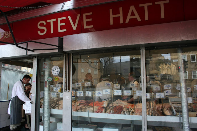 Steve Hatt's fishmongers in Islington. I think he only employs male models.