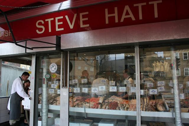 Steve Hatt's fishmongers in Islington. I think he only employs male models.