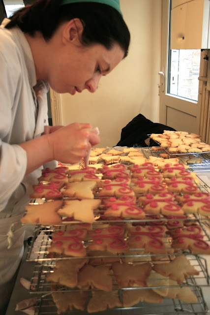 Lavender Bakery piping biscuits