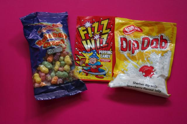 Sherbet dib dabs, Fizz Wiz, vintage sweets