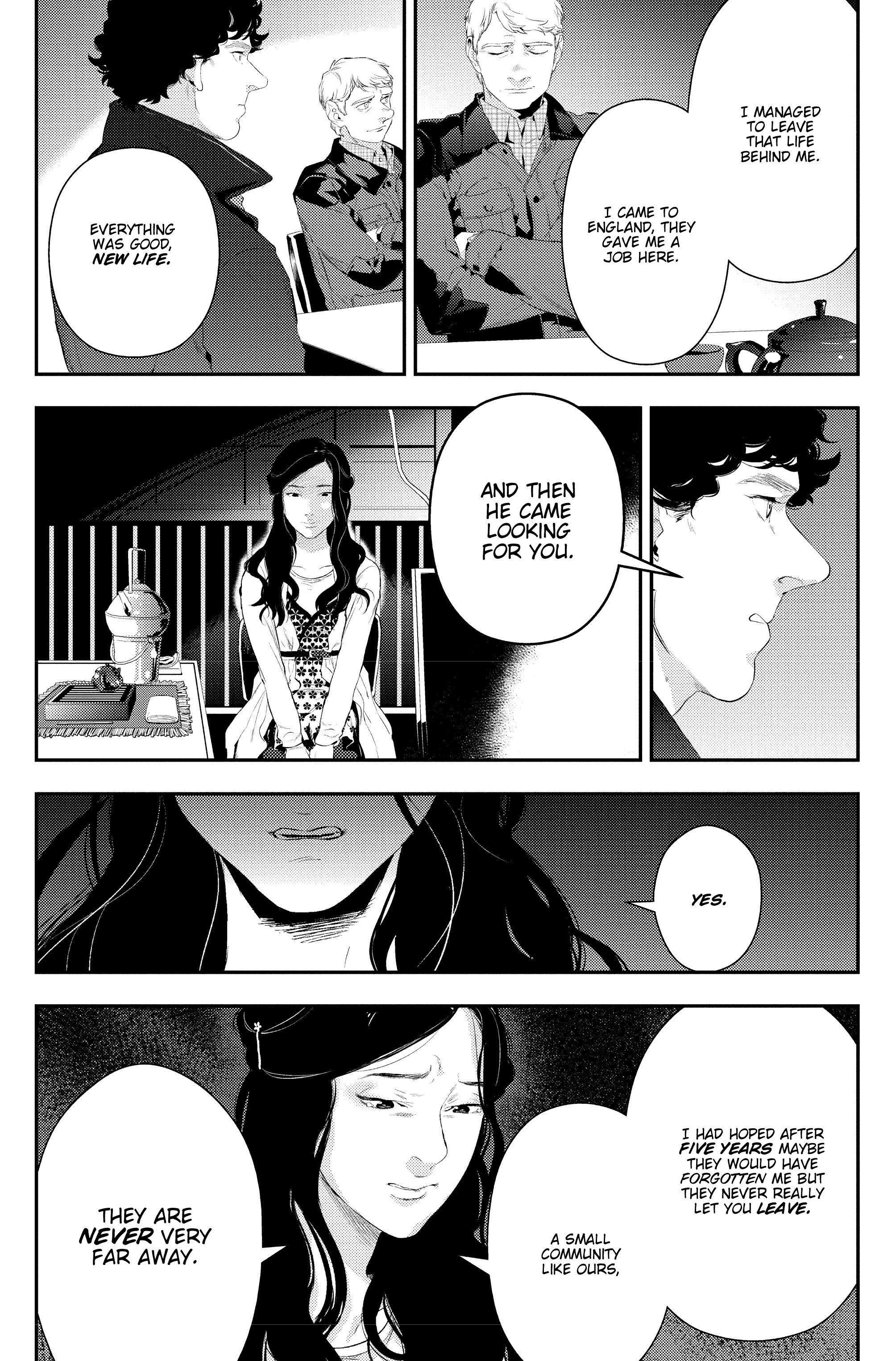 Read online Sherlock: The Blind Banker comic -  Issue #4 - 21