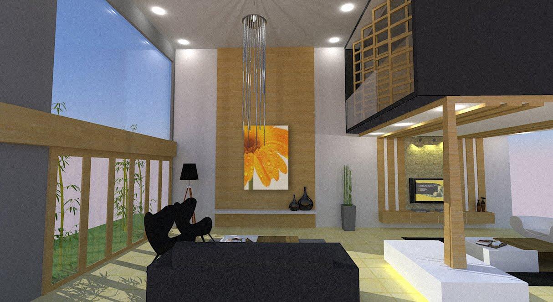 studio works double volume living room