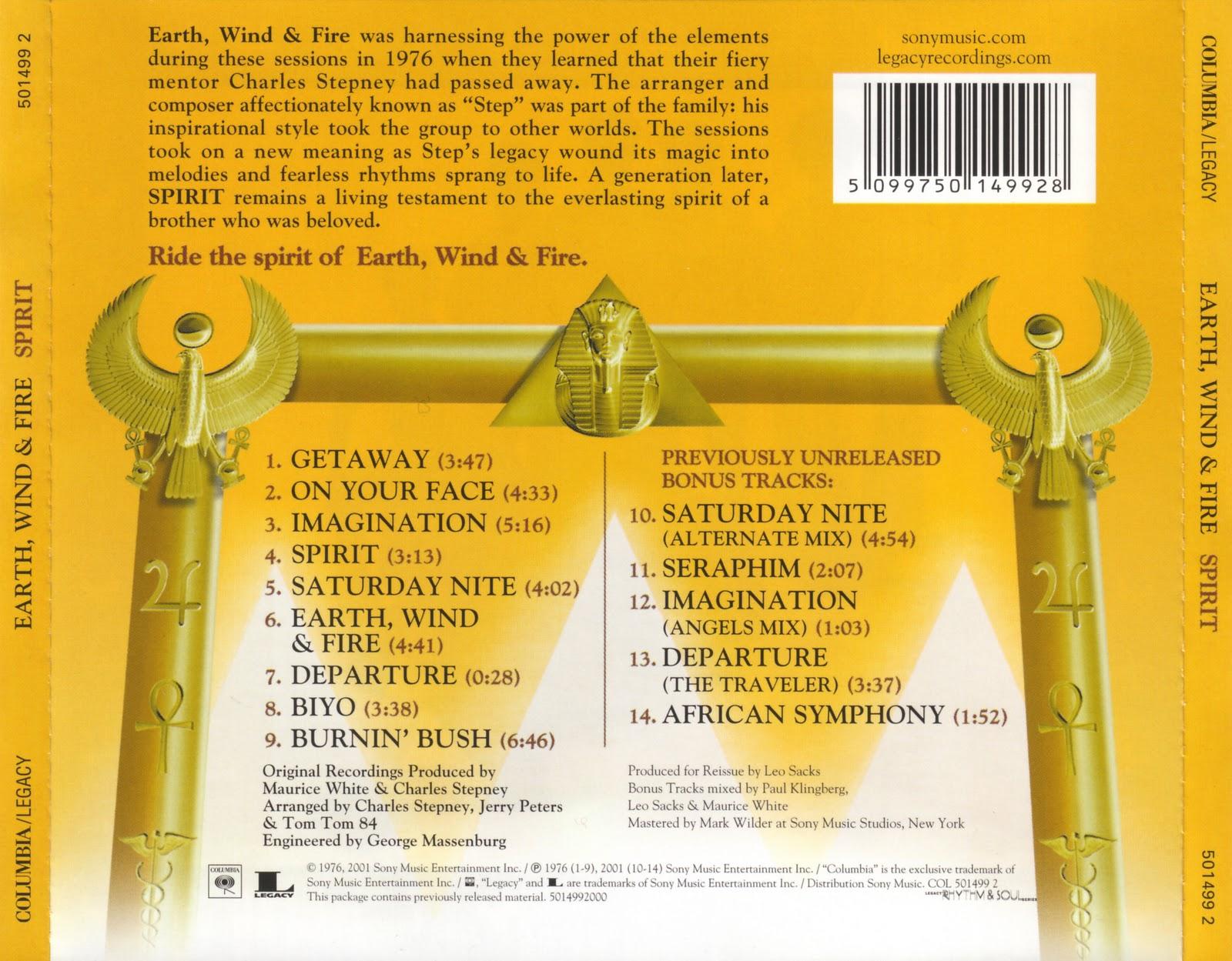 Musicotherapia Earth Wind Fire Spirit 1976
