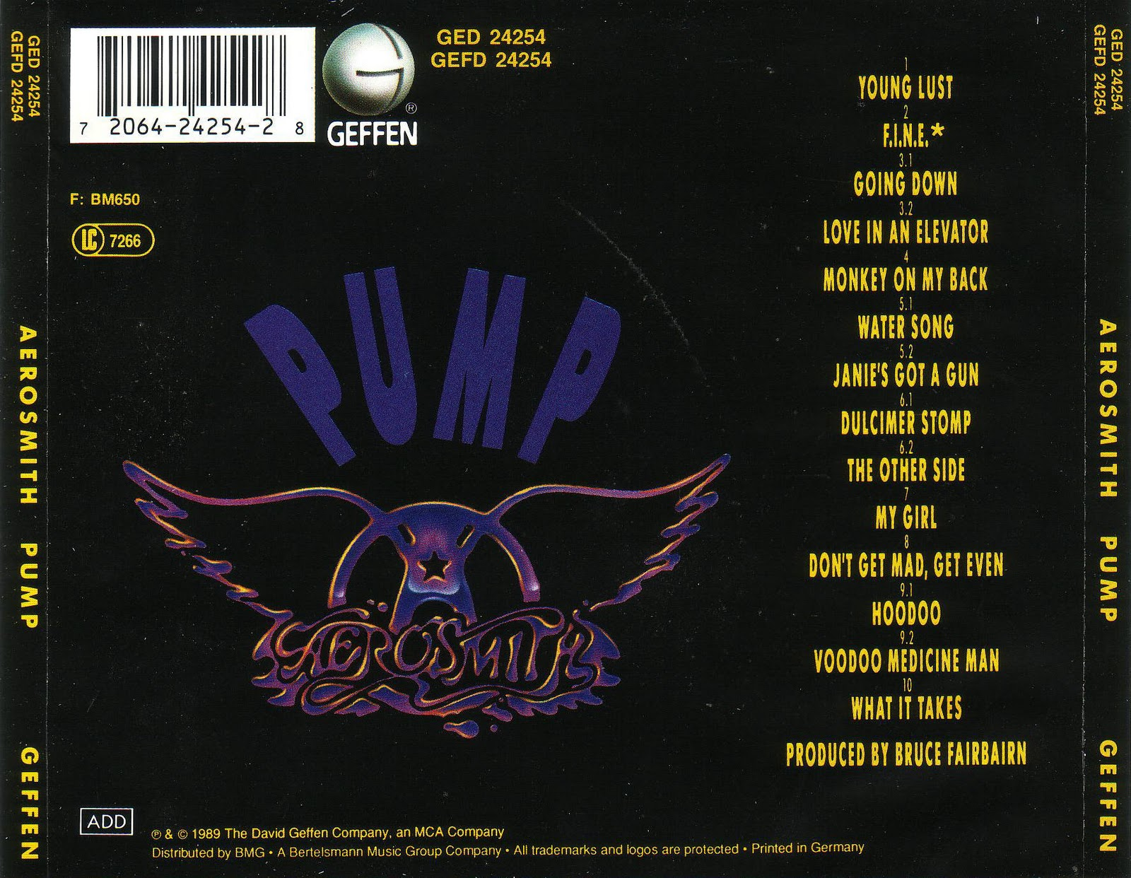 Musicotherapia Aerosmith Pump 1989