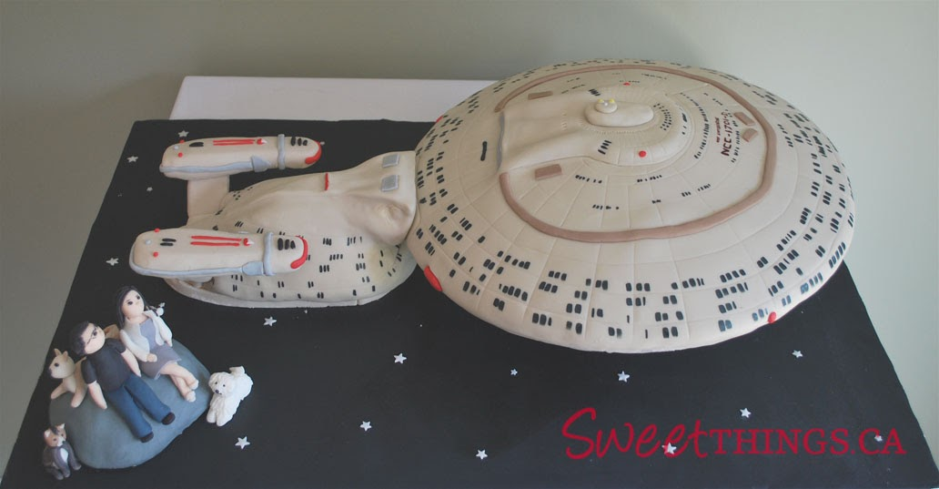 star trek themed wedding cake sweetthings trek cake starship enterprise cake 20499