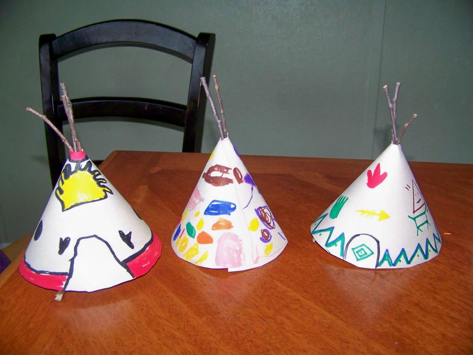 My Four Girls Teepee Craft