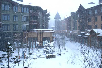 This Quaint Tranquil Winter Scene In The Village At Mammoth Is Soon To Be Interrupted By Skiers Heading New Restaurants Such As Station 9 And