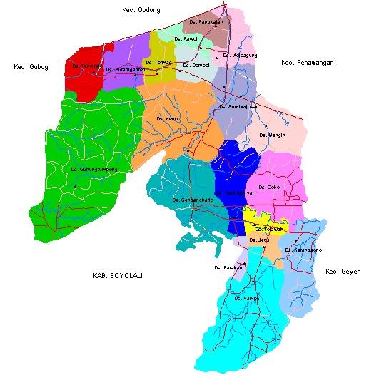Peta Kecamatan Karangrayung