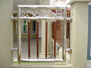 Malaysia 1st Stainless Steel Design-Wooden Effect: Fencing