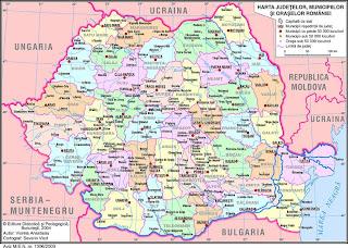 Harta Harta Romaniei Judete Si Comune