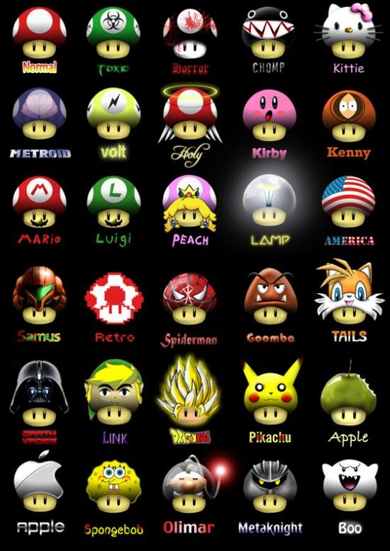 Les personnages de super mario