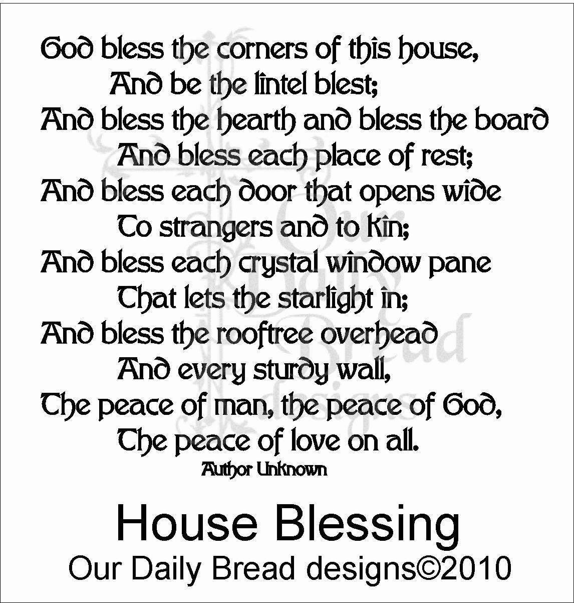 Irish New Home Blessing Poems