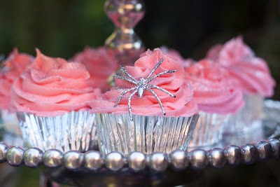 Pink and silver Halloween Party Dessert Table