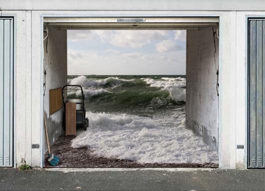 10 cool garage doors designs tips4design - Garage door vinyl wrap ...