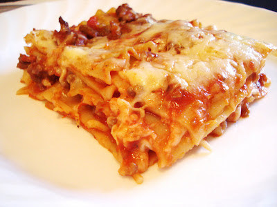 Four Ingredient Lasagna I One Lovely Life
