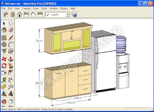 Download Gratis Kitchen Set Sederhana File Sketchup Jasa Sae
