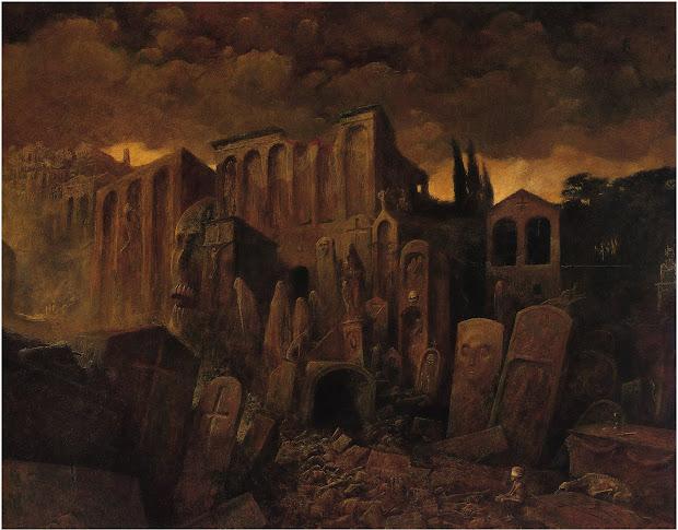 Zdzislaw Beksinski Beksiski Paintings Of 1971