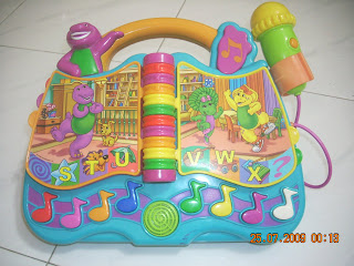Toys4toddlers Barney Abc 123 Sing N Learn Electronic Toy