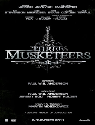 Three Musketeers Movie Poster