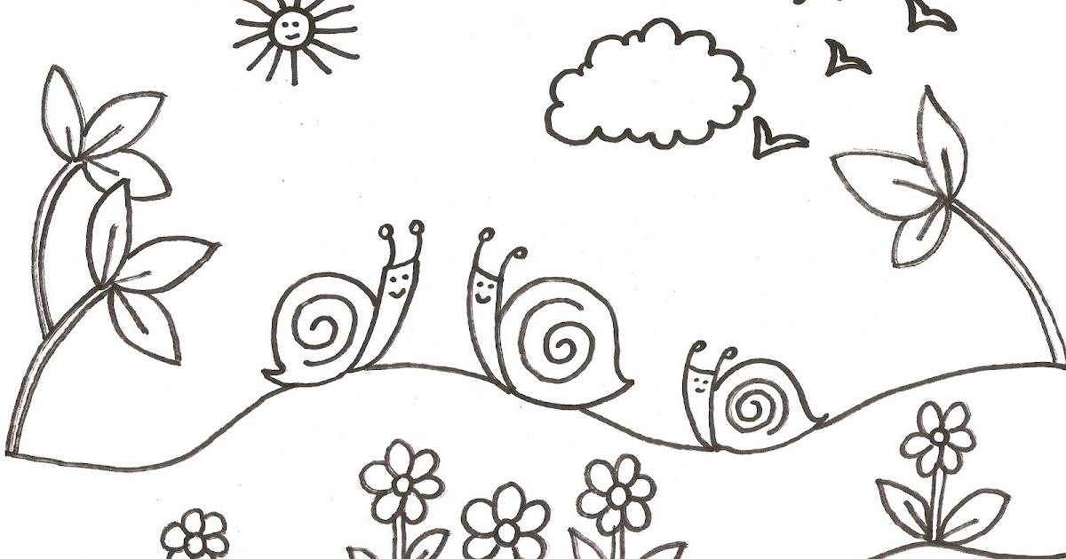 Dibujos Infantiles De Caracoles Para Colorear: Dibujos Para Colorear Para Niños O Infantiles, Son Láminas