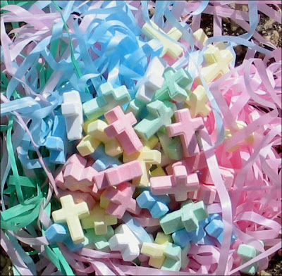Jesus Egg candy crosses
