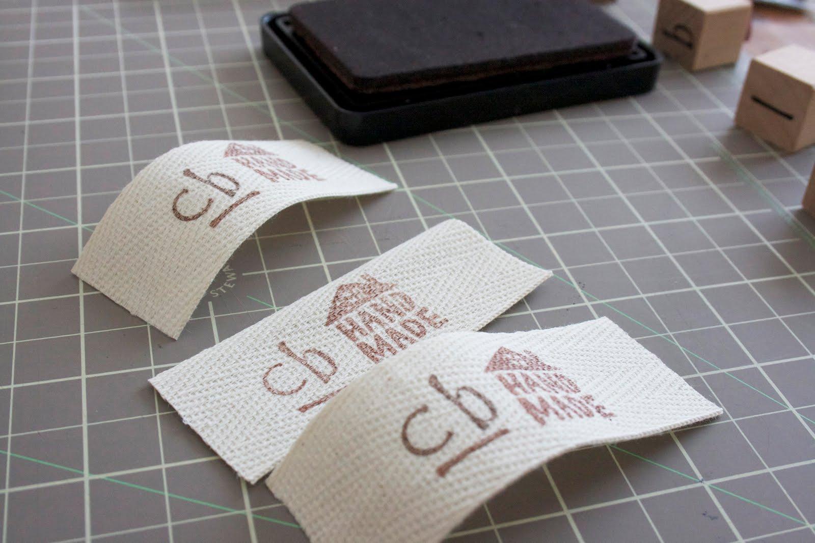 Craftyblossom Fabric Labels A Tutorial