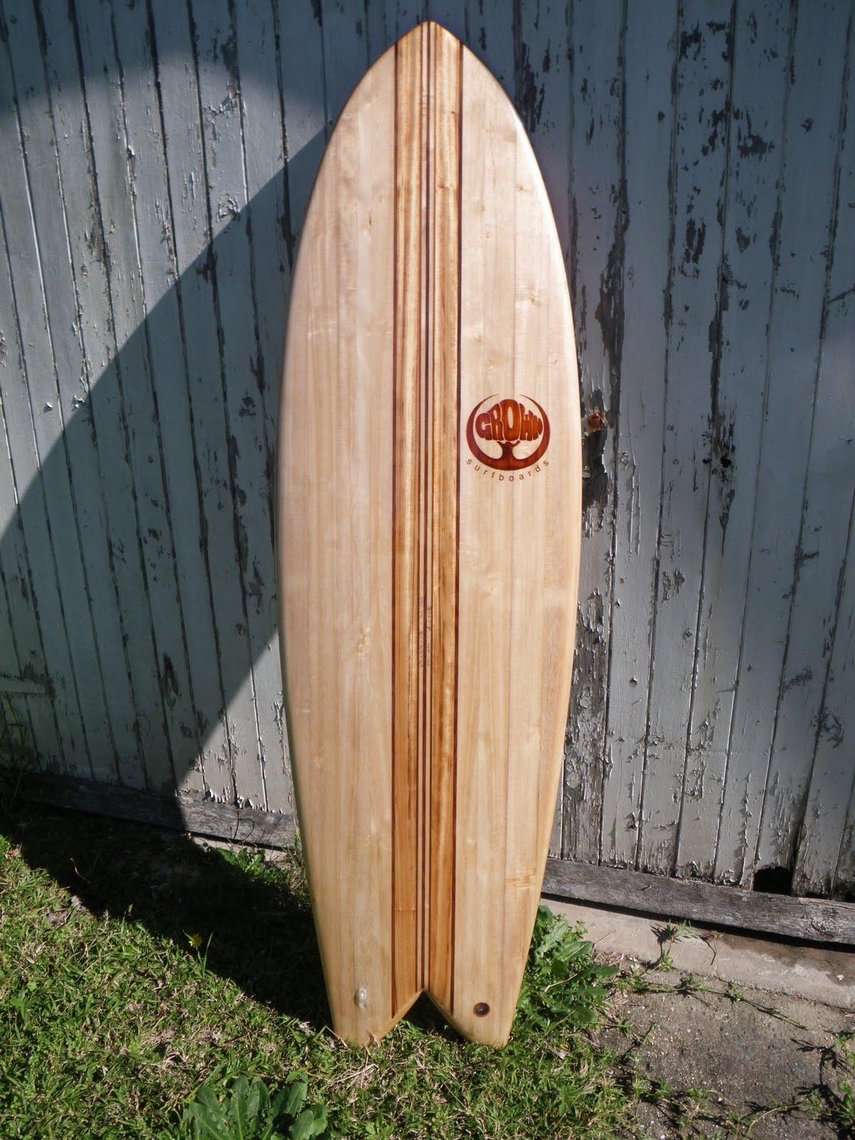 Vintage Wood Surfboard 70