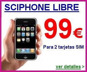 Sciphone libre Dual SIM