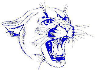 Blue face of panther clipart free