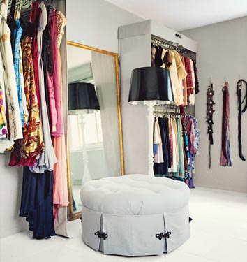 Mariah Careys Closet Via InStyle Magazine
