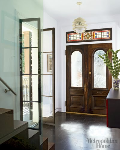 Brownstone Interior Design: Elle Decor Modern Brownstone....