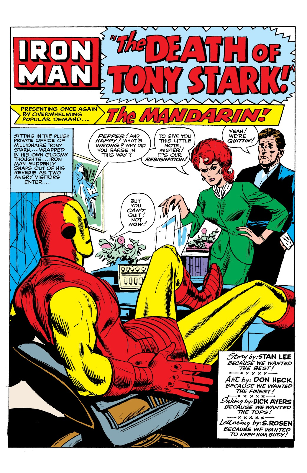 Read online Marvel Masterworks: The Invincible Iron Man comic -  Issue # TPB 2 (Part 2) - 72