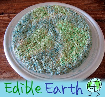 A close up photo of an edible earth cake resting on a plate.