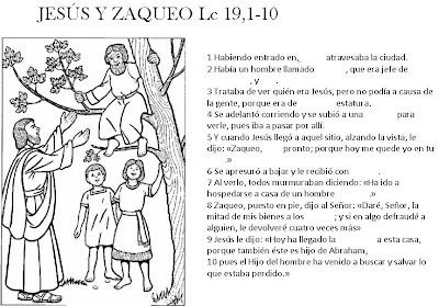 Educar Con Jesús Zaqueo Lc 191 10 Cita Bíblica Para Completar
