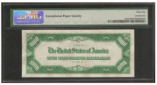 Diary Addict: $500 to $100,000 The Biggest Dollar Bills in
