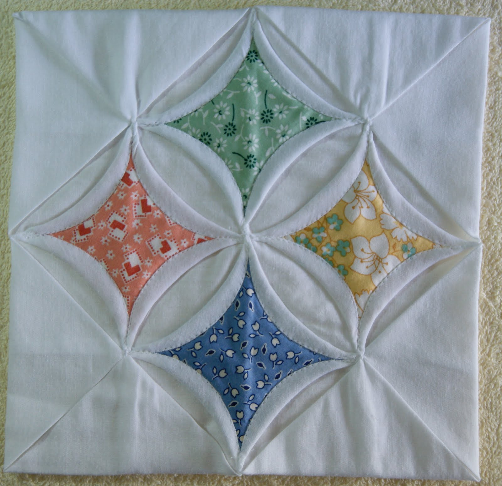 One Piece at a Time: Cathedral Window Quilt