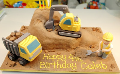 Construction Theme 2nd Birthday Cake For Ayden This 3 Tiered Was