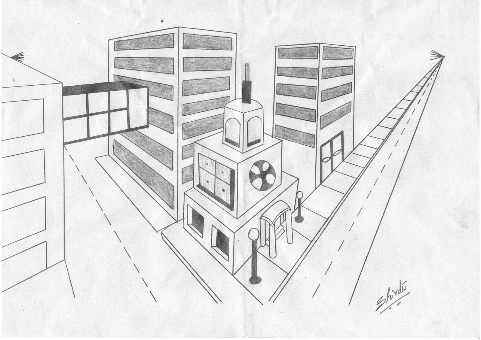 Perspective Perspective Drawing And Modern Buildings
