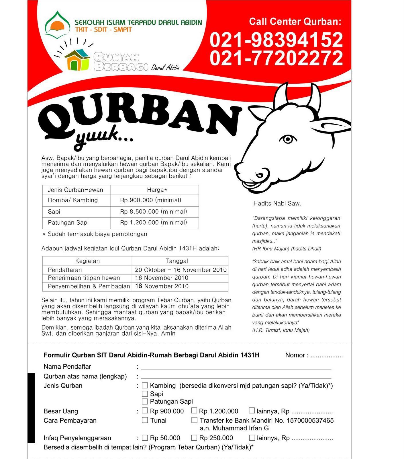 Contoh Brosur Obat:  Contoh Brosur Qurban