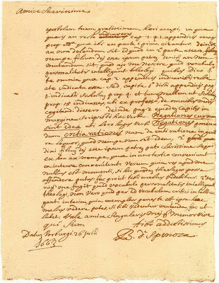 Spinoza, Brief 12A aan Lodewijk Meyer (facsimile), Voorburg, 26 juli 1663 [uitgegeven door A.K. Offenberg. Amsterdam, Universiteitsbibliotheek, 1975]