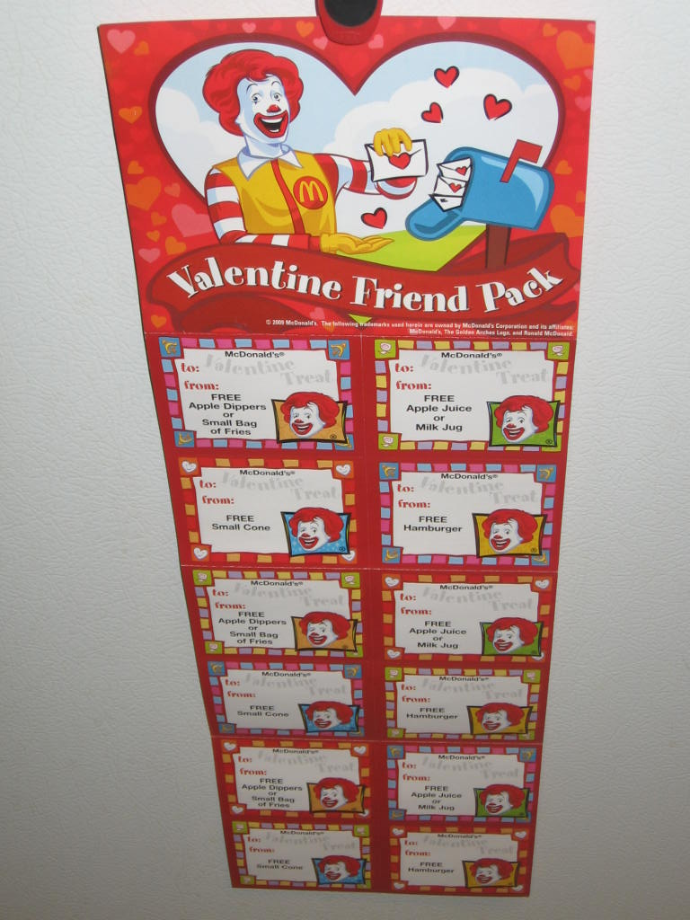 McDonald's: Valentine Friend Pack Coupons • Bargains To Bounty