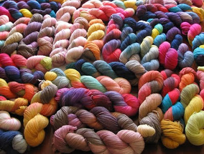 Hand-dyed yarn by Artist's Palette Yarns