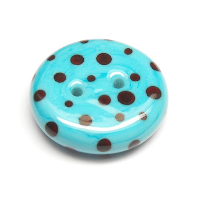 Lampwork Glass Button