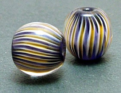 Lampwork Glass Pleat Beads