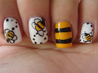 All Nail And Cosmetics Flying Bumble Bee Nail Design