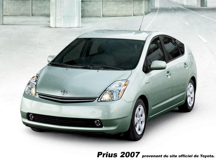 les voitures hybrides la prius 2007. Black Bedroom Furniture Sets. Home Design Ideas