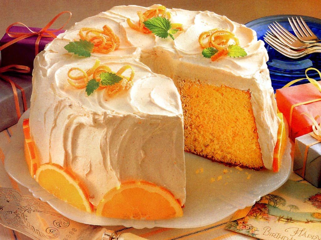 Orange Chiffon Cake Icing